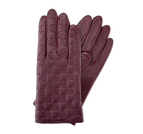 Rękawiczki damskie, fioletowy, 39-6-289-1-S, Zdjęcie 1