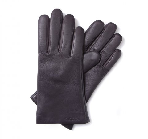 Damskie rękawiczki ze skóry gładkie, -, 44-6-201-6-L, Zdjęcie 1