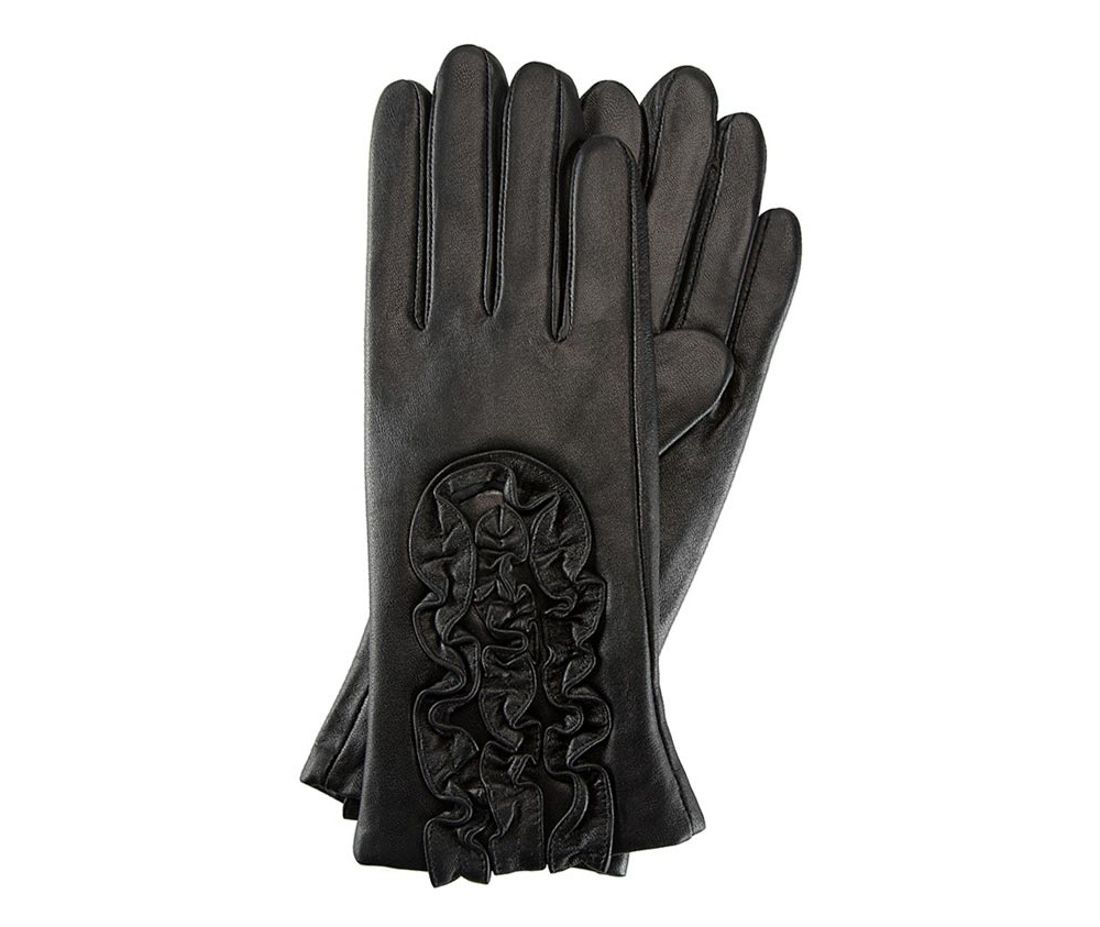 Перчатки женские кожаныеПерчатки женские кожаные<br><br>секс: женщина<br>Цвет: черный<br>Размер INT: XL<br>материал:: Натуральная кожа