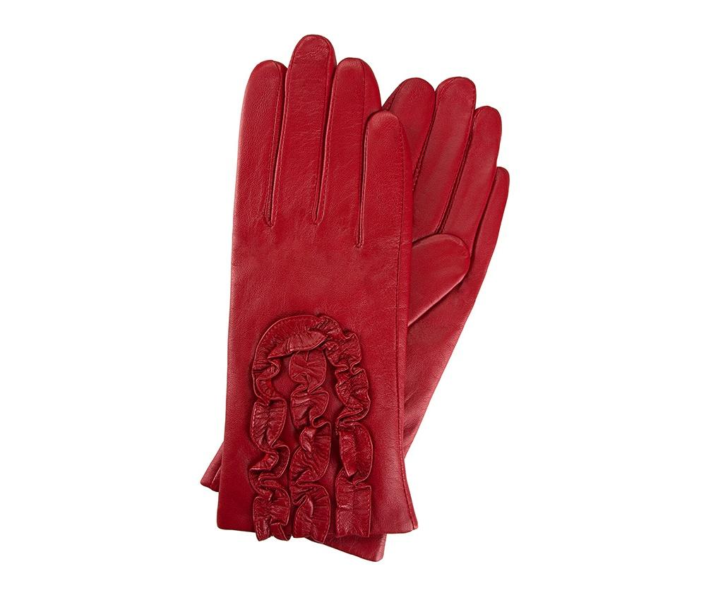 Перчатки женские кожаные Wittchen 39-6-518-2T, красныйПерчатки женские кожаные<br><br>секс: женщина<br>Размер INT: S