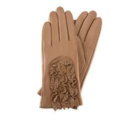 Rękawiczki damskie, jasny brąz, 39-6-518-L-M, Zdjęcie 1