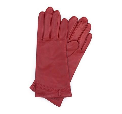 Rękawiczki damskie, czerwony, 39-6-224-2C-V, Zdjęcie 1