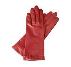 Rękawiczki damskie, czerwony, 39-6-224-2-M, Zdjęcie 1