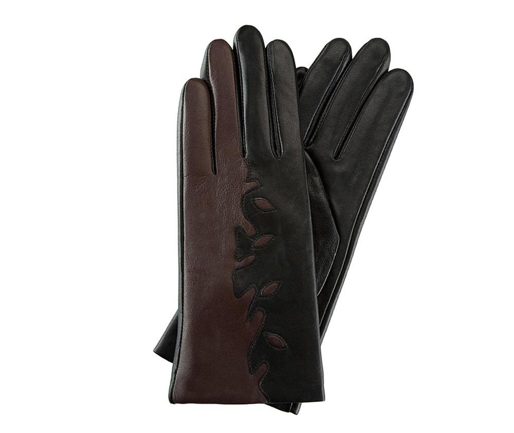 Перчатки женские кожаные Wittchen 39-6-519-1, черно - коричневыйПерчатки женские кожаные<br><br>секс: женщина<br>Цвет: черный<br>Размер INT: M<br>материал:: Натуральная кожа