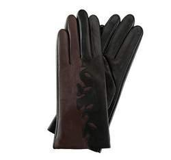 Перчатки женские кожаные Wittchen 39-6-519-1, черно - коричневый 39-6-519-1