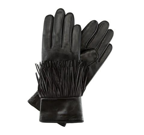 Rękawiczki damskie, czarny, 39-6-292-1-L, Zdjęcie 1