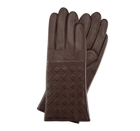 Rękawiczki damskie, ciemny brąz, 39-6-520-B-M, Zdjęcie 1