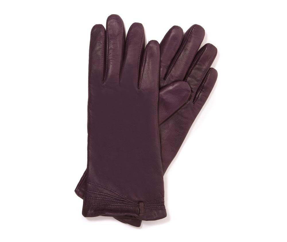 Перчатки женские кожаные Wittchen 39-6-224-P, сливовыйПерчатки женские кожаные<br><br>секс: женщина<br>Цвет: фиолетовый<br>Размер INT: S