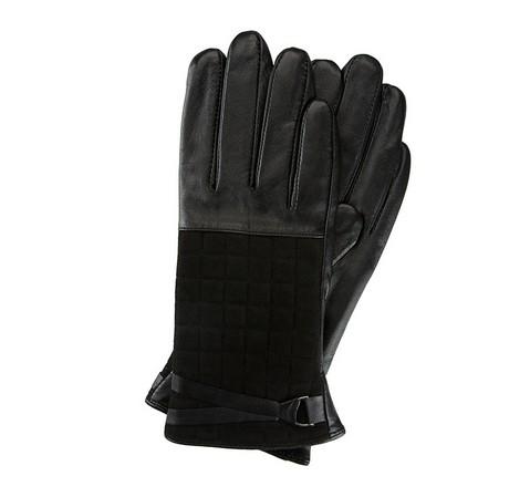 Rękawiczki damskie, czarny, 39-6-521-1-V, Zdjęcie 1
