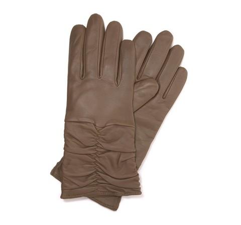 Rękawiczki damskie, beżowy, 44-6-633-0A-S, Zdjęcie 1