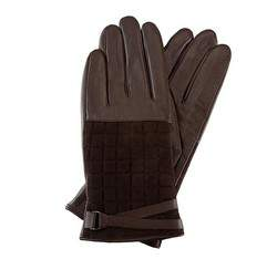 Rękawiczki damskie, brązowy, 39-6-521-B-M, Zdjęcie 1