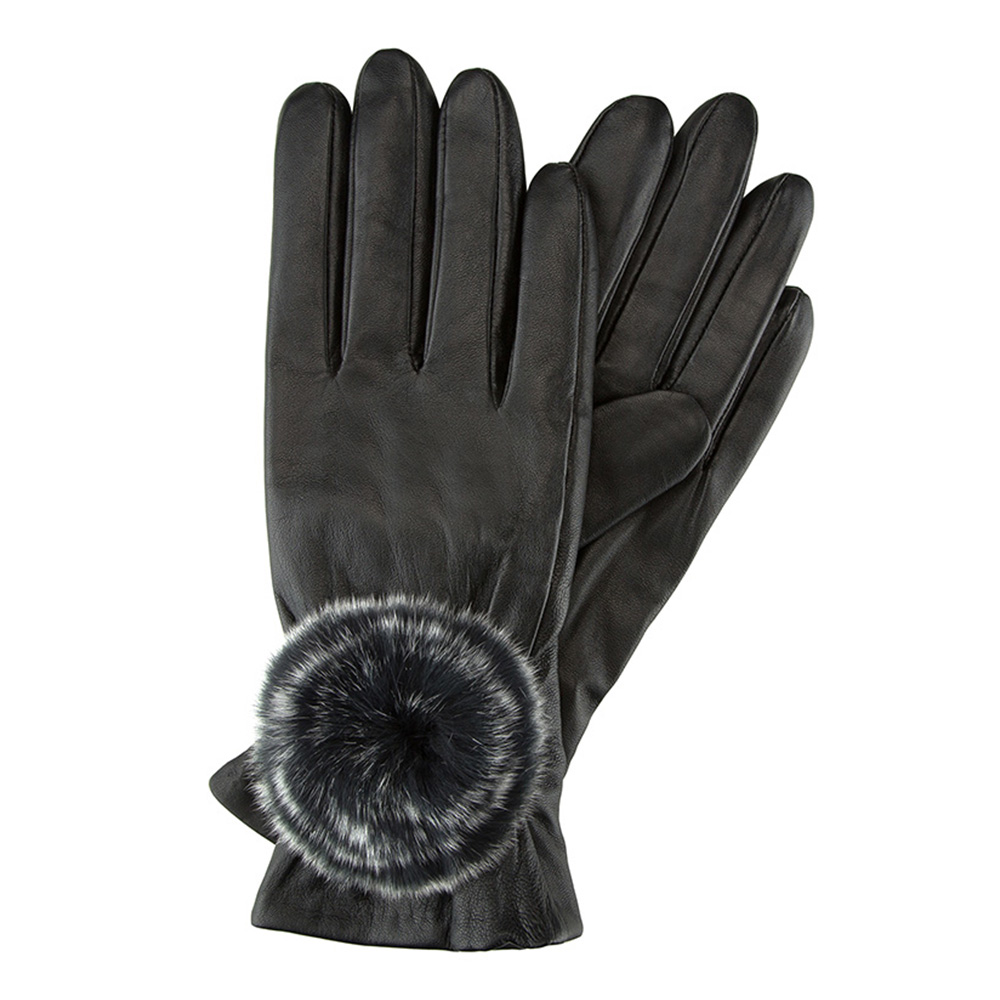 Перчатки женские кожаные Wittchen 39-6-522-1, черныйПерчатки женские кожаные<br><br>секс: женщина<br>Цвет: черный<br>Размер INT: S<br>материал:: Натуральная кожа