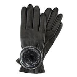 Rękawiczki damskie, czarny, 39-6-522-1-S, Zdjęcie 1