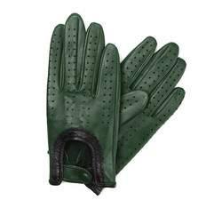Rękawiczki damskie, zielony, 46-6-292-7T-S, Zdjęcie 1