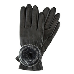Rękawiczki damskie, czarny, 39-6-522-1-V, Zdjęcie 1