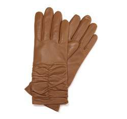 Rękawiczki damskie, jasny brąz, 44-6-633-L-X, Zdjęcie 1