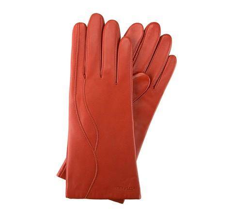 Rękawiczki damskie, ceglasty, 39-6-225-6-M, Zdjęcie 1