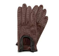 Rękawiczki damskie, ciemny brąz, 46-6-292-D-L, Zdjęcie 1