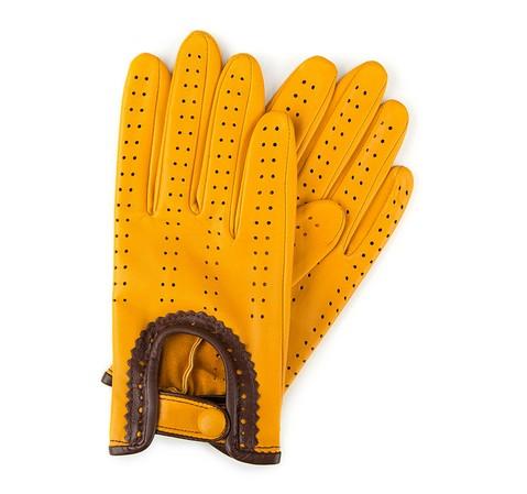 Rękawiczki damskie, żółty, 46-6-292-Y-V, Zdjęcie 1