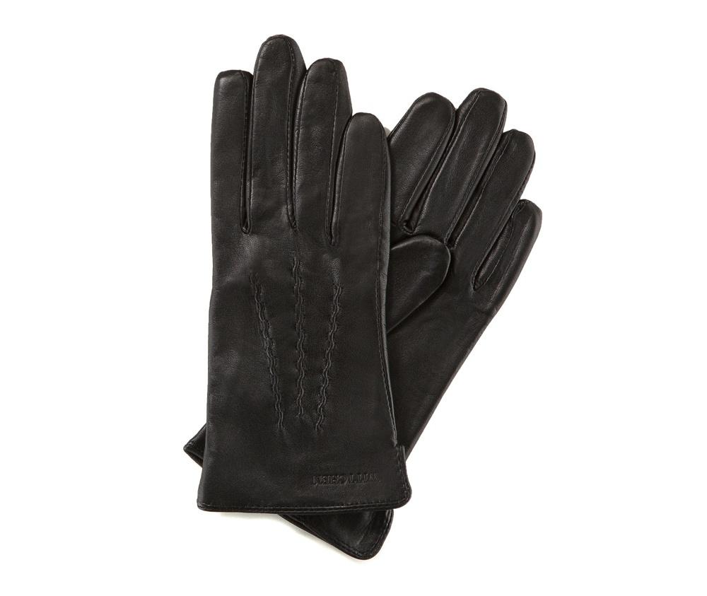 Перчатки женские кожаные Wittchen 39-6-264-1, черныйПерчатки женские кожаные<br><br>секс: женщина<br>Цвет: черный<br>Размер INT: M