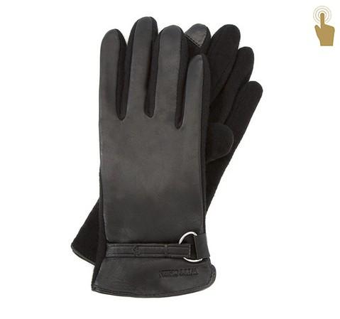 Rękawiczki damskie, czarny, 45-6-275-B-M, Zdjęcie 1