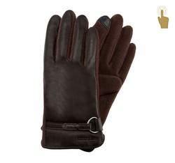 Rękawiczki damskie, ciemny brąz, 45-6-275-B-M, Zdjęcie 1