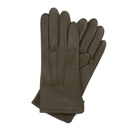 Rękawiczki damskie, zielony, 39-6-202-7-V, Zdjęcie 1