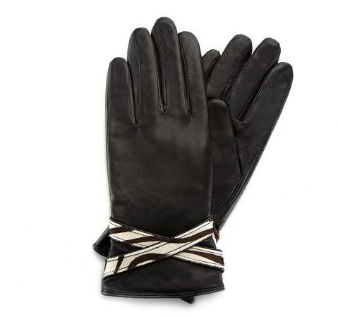Rękawiczki damskie, czarny, 39-6-274-1-S, Zdjęcie 1