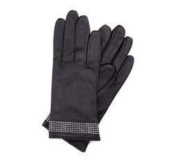 Rękawiczki damskie, czarny, 39-6-275-1-X, Zdjęcie 1