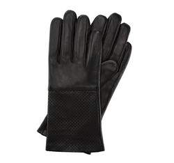 Rękawiczki damskie, czarny, 45-6-513-1-M, Zdjęcie 1
