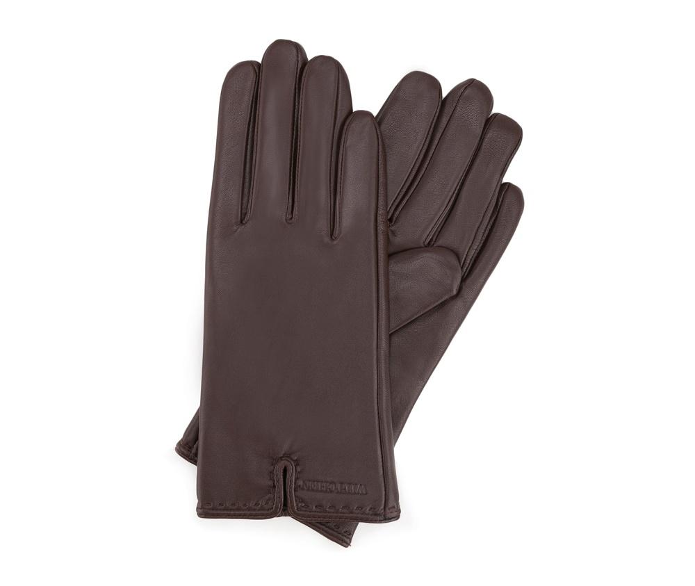 Перчатки женские кожаныеПерчатки женские кожаные<br><br>секс: женщина<br>Цвет: коричневый<br>Размер INT: XL<br>материал:: Натуральная кожа
