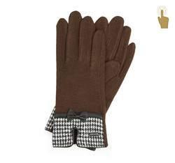 Rękawiczki damskie, brązowy, 47-6-103-D-U, Zdjęcie 1