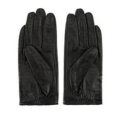Damskie rękawiczki skórzane samochodowe, czarny, 46-6L-292-1-M, Zdjęcie 1