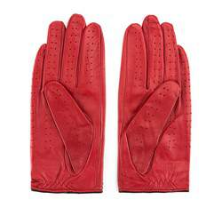 Damskie rękawiczki skórzane samochodowe, czerwony, 46-6L-292-2T-L, Zdjęcie 1