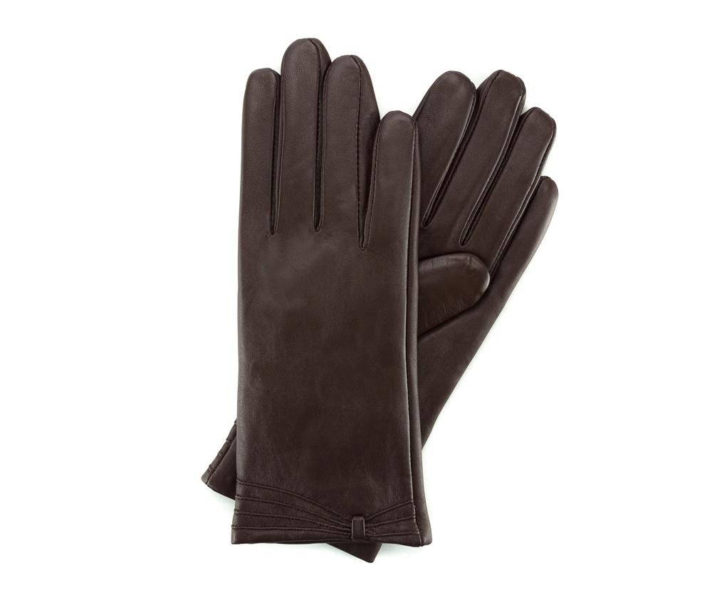 Перчатки женские кожаныеПерчатки женские кожаные<br><br>секс: женщина<br>Цвет: коричневый<br>Размер INT: S<br>материал:: Натуральная кожа