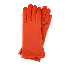 Rękawiczki damskie, ceglasty, 39-6-224-6-S, Zdjęcie 1