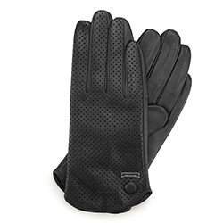 Women's gloves, black, 45-6-522-1-M, Photo 1