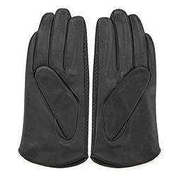 Damskie rękawiczki skórzane dziurkowane, czarny, 45-6-522-1-V, Zdjęcie 1