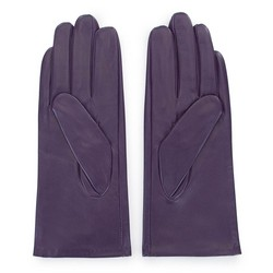 Women's perforated leather gloves, violet, 45-6-638-F-X, Photo 1