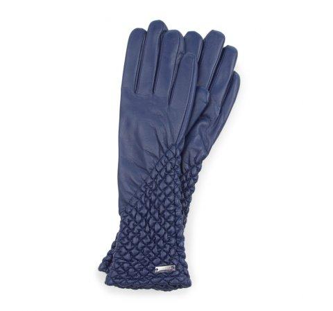 Rękawiczki damskie, granatowy, 39-6L-214-2-V, Zdjęcie 1
