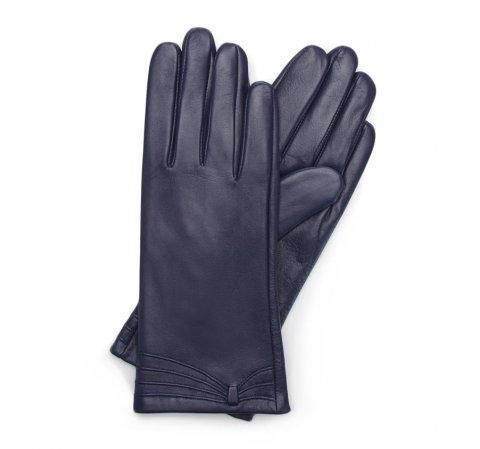 Rękawiczki damskie, granatowy, 39-6L-224-S-L, Zdjęcie 1
