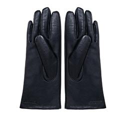 Damskie rękawiczki ze skóry klasyczne, granatowy, 39-6-542-GC-S, Zdjęcie 1