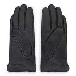 Damskie rękawiczki ze skóry croco, czarny, 39-6-650-1-L, Zdjęcie 1