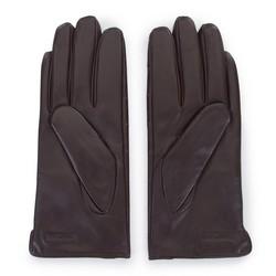 Damskie rękawiczki ze skóry croco, brązowy, 39-6-650-B-L, Zdjęcie 1