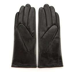 Rękawiczki damskie skórzane z rzemykiem, czarno - fioletowy, 44-6-911-1-S, Zdjęcie 1