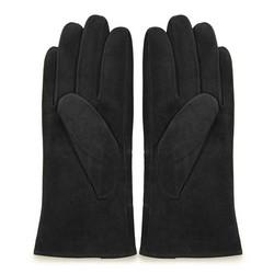 Damskie rękawiczki zamszowe z przeszyciami, czarny, 44-6-912-1-L, Zdjęcie 1