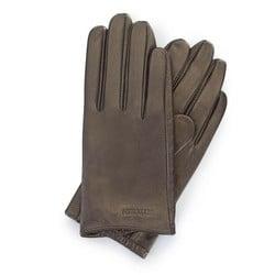 Women's smooth leather gloves, dark brown, 46-6-309-G-S, Photo 1