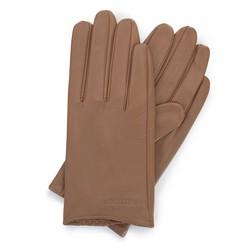 Women's smooth leather gloves, light brown, 46-6-309-L-X, Photo 1