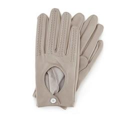 Rękawiczki damskie, ecru, 46-6L-290-6A-S, Zdjęcie 1