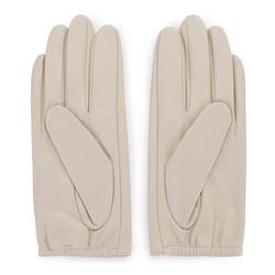 Damskie rękawiczki z gładkiej skóry, kremowy, 46-6-309-A-M, Zdjęcie 1